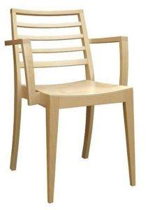 Nowoczesne krzesło sztaplowane z podłokietnikami BS-0506 krzesła drewniane konferencyjne