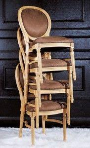 Krzesła sztaplowane A-1001-V ST oryginalne włoskie krzesło typu LUDWIK XVI - sposób sztaplowania