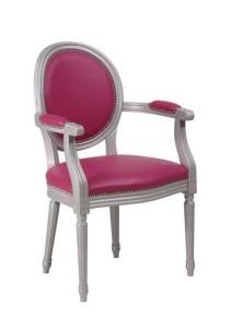 Fotel tapicerowany stylowy włoski B-1001-V typu Ludwik XVI Luigi