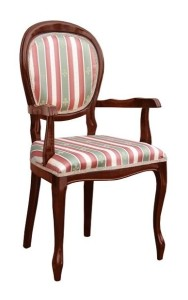 Fotel tapicerowany stylizowany B-1002-V