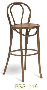 Krzesło barowe gięte BSG-18 typu thonet