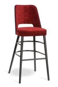 Barowy hoker tapicerowany BSP-0042 krzesło barowe typu BST-1412 fameg Alora