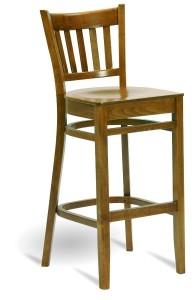 Barowy hoker drewniany BSP-5210 krzesło barowe country typu BST-9907/W fameg Bistro.2