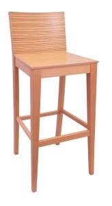 Krzesło barowe BST-0810 drewniany hoker barowy