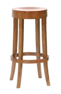 Drewniany stołek barowy CP-4086 taboret barowy