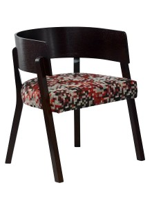 Fotel tapicerowany PIZZO-1-BN