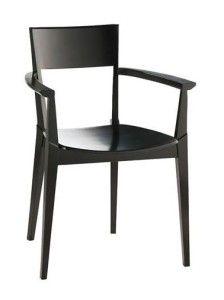 Fotel nowoczesny drewniany BR-0620 minimalistyczny w stylu japońskim