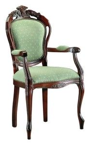Włoski fotel stylowy tapicerowany B-1006-V