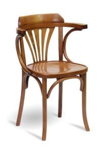 Gięty fotel drewniany BG-24