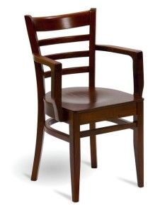 Fotel drewniany BP-5200 tyu Bistro fameg