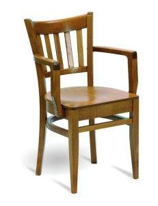 Fotel drewniany barowy BP-5210 typu Bistro fameg