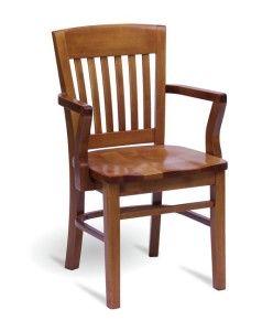 Fotel drewniany BP-6500 typu country