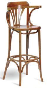Hoker drewniany gięty BSG-24 krzesło barowe typu thonet