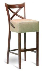 Hokery tapicerowane BST-145-1 krzesło barowe typu crossback lub Bistro.1 fameg