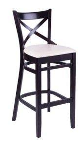 Hoker drewniany BST-145 krzesło barowe typu BST-9907/2 fameg Bistro.1