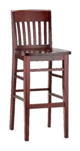 Hoker drewniany BST-9418 krzesło barowe typu country
