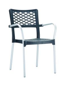 Fotel nowoczesny Bela czarny