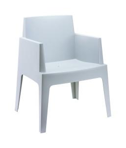 Boks nowoczesny fotel biały