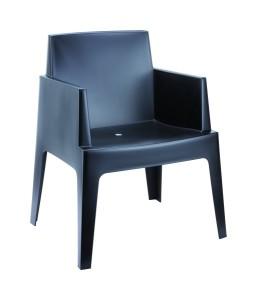 Boks fotel nowoczesny czarny