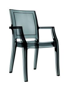 Fotel Artur czrny trans