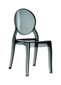 Krzeslo Eliza czarny trans