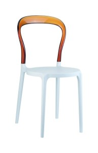 Krzeslo Mister bialy bursztyn