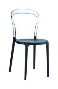 Krzeslo Mister czarny clear