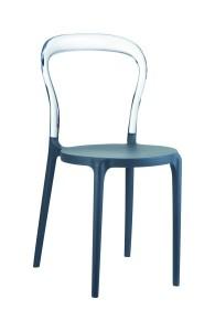 Krzeslo Mister szary ciemny clear