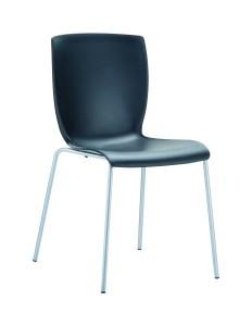 Krzesło nowoczesne czarne Miu czarny