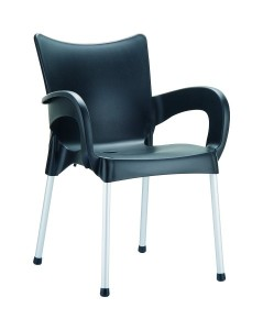 Fotel nowoczesny czarny Rome