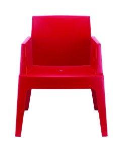 Fotel nowoczesny Boks czerwony