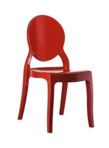 Krzeslo Eliza czerwony