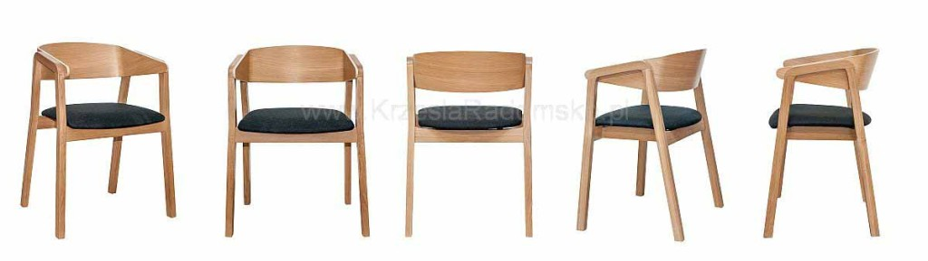 Nowoczesne fotele dębowe CAVA