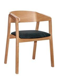 Fotel nowoczesny drewniany BS-Cava Dąb Meble Radomsko