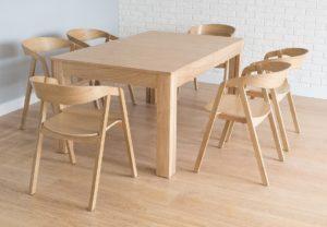Dębowy stół i fotele do jadalni typu LOX