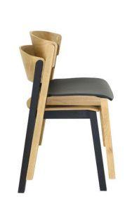 Krzesło nowoczesne Cava-AS-ST sztaplowanie