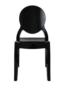 Krzesło plastikowe czarne ELIZA