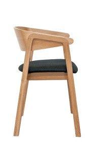 Dębowy fotel nowoczesny drewniany BS-Cava Dąb