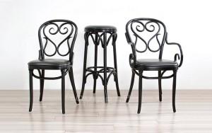Stylowa kolekcja gięta Thoneta AG-4 krzesło fotel i hoker