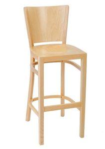 Hoker drewniany barowy BSR-0031-1 krzesło barowe typu Tulip