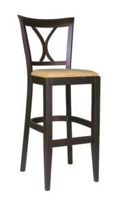 Stylowy hoker barowy BST-3900 z siedziskiem tapicerowanym
