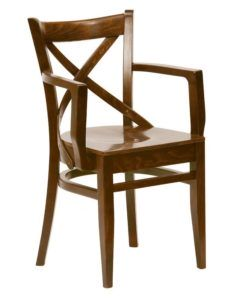 Fotel drewniany BL-0145 crossback typu Bistro fameg lub A-5245