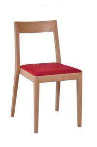 Minimalistyczne krzesło nowoczesne sztaplowane AS-2310 Meble Radomsko do restauracji