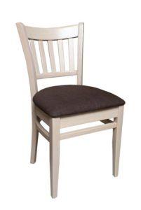 Sztaplowane krzesło do baru AR-9907-W tapicerowane typu TULIP fameg