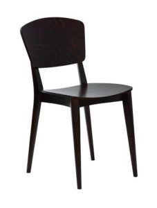 Krzesło sztaplowane drewniane nowoczesne Peble AN