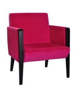 Fotel nowoczesny Kondal-1SF tapicerowany do pokoju hotelowego