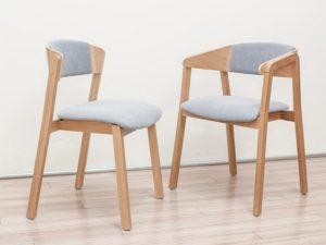 Nowoczesne krzesło i fotel CAVA 2 z siedziskiem i oparciem tapicerowanym