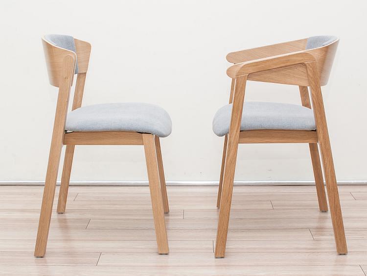 Nowoczesny krzesło fotel CAVA 2 z siedziskiem i oparciem tapicerowanym