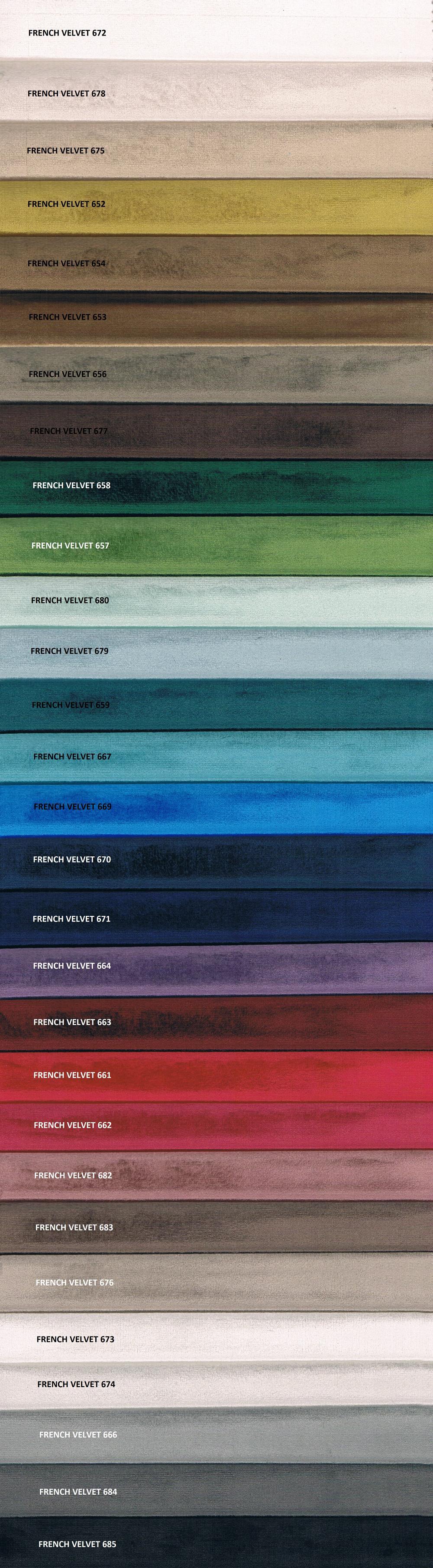 Tkanina tapicerska meblowa obiciowa French Velvet z kolekcji Meble Radomsko