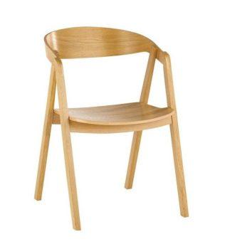 Designerskie sztaplowane krzesło nowoczesne dębowe LOX BS Meble Radomsko ustawiane w stos do 5 sztuk